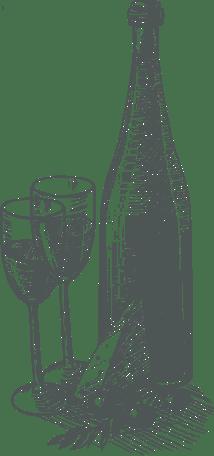 conjunto decorativo vino boceto 4